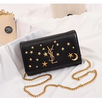 HCXX 19June 422 Yves Saint Laurent YSL Star and Moon Logo Messenger 22-16-5