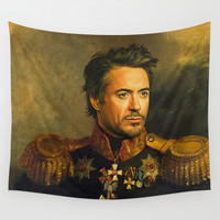 Robert Downey Jr. - replaceface Wall Tapestry by Replaceface