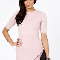 Missguided - Bonitta Origami Mini Dress In Dusky Pink