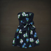 NEW NWT! HOLLISTER by Abercrombie Womens Strapless Floral Spring Summer Dress S