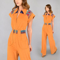 70's Southwestern BELLBOTTOM Jumpsuit
