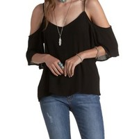 Gauzy Cold Shoulder Top by Charlotte Russe