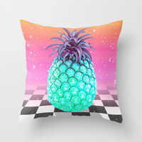 Pineapple Throw Pillow by Danny Ivan