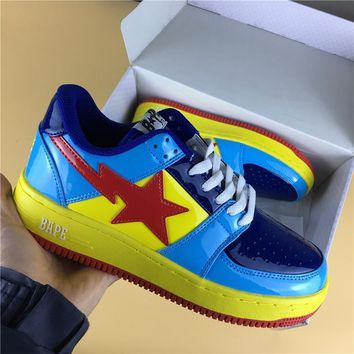 Foot Soldier BAPE STA Yellow-Blue/Red Star Sneaker Shoe 36-45