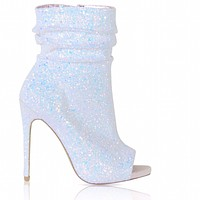 Icey Spotlight Open Toe Ankle Boot