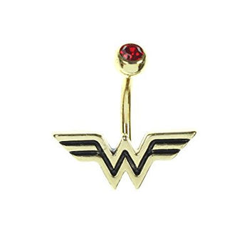 Wonder Woman Gold Plated Fixed Logo Charm