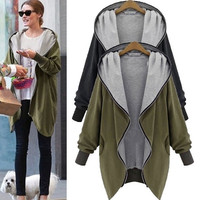 Women Fashion Cotton Warm Loose Hoodie Zipper Sweatshirts Casual Cardigan Coat Hot Sale Plus Size S-5XL = 1932588804