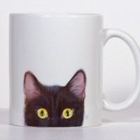 Cat Mug, Personalized Cat Mug, Black Cat Mug, Add Your Name or Message