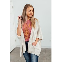 Going Places Cardigan - Oatmeal
