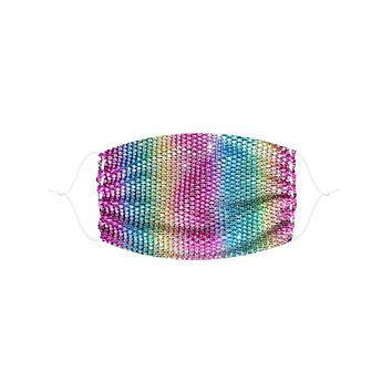 Neva Nude Over the Rainbow Mesh Jewel Face Mask