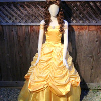Belle Version M Adult Costume Dress Gown Beauty and the Beast