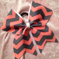 Cheer Bow - Custom Chevron Cheer Bow DESIGN YOUR OWN Chevron Cheer Bow