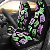 Periodic Table Pattern Car Seat Covers