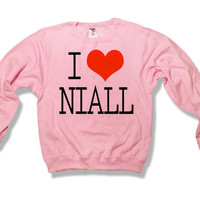 One Direction I Love Niall Horan 017 Sweatshirt Light Pink x Crewneck x Jumper x Sweater - All Sizes Available