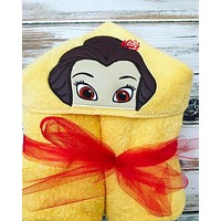 Beauty and the Beast Belle Hooded Towel