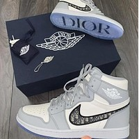 NIKE x DIOR Air Jordan 1 AJ1 High top sports running shoes