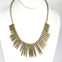 Brass Step Necklace Set