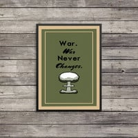 Fallout Poster | War never changes poster | Vintage look print | Videogame art