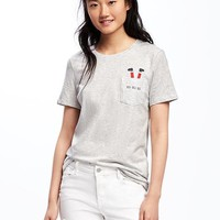 Relaxed Crew-Neck Tee for Women | Old Navy