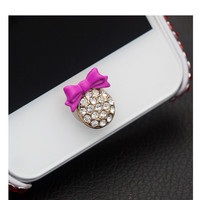 Malloom 2016 3D Crystal Bling Diamond Home Button Sticker for iPhone 4 5 5s SE 6 6s plus for iPad Cell phones accessories #J22