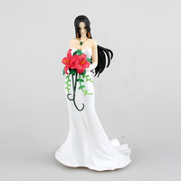 One Piece Boa Hancock luffy funny moments wedding dress smoker figure statue pose toy gift christmas