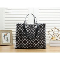 Louis Vuitton LV Fashion Women Shopping Bag Leather Handbag Crossbody Satchel Shoulder Bag Black