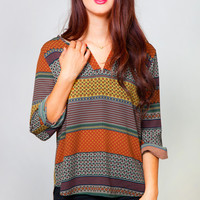 From Top to Autumn Blouse