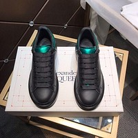 Alexander McQUEEN Men Fashion Boots fashionable Casual leather Breathable Sneakers Running Shoes-65