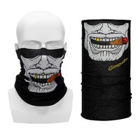 Balaclavas Half Face Mask for Motorcycle Bicycle Riding Outdoor Sports Wicking Seamless Scarf Neck Moto Face Mask Funny