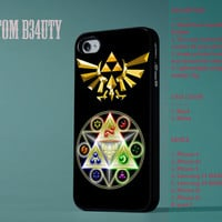 The Legend of Zelda Triforce For iPhone 4/4s Cover iPhone 5 iPhone 5c iPhone 5s Hard Plastic And Rubber Cover
