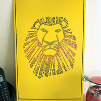 The Lion King Typographic Poster - Colour Choice