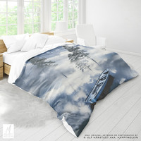 Beautiful And Surreal Duvet Cover | Nature Art Bed Linen | Boho Bedding | Forests | Home Decor | Sailing | Queen & Twin Size | Unique Gifts