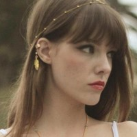 Retro Gold Feather & Pearl Ear Cuff (2 Colors!)