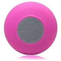 Splash Tunes by FRESHeTECH (Pink) - Shower Waterproof Bluetooth Wireless Speaker