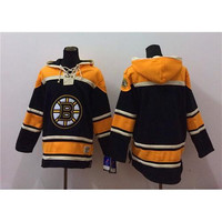 Bruins Black Hockey Hoodies Mens Jackets 2015 Lace Up Winter Ice Hockey Sports Hoodies Cheap Hockey Uniforms Best Sporting Jerseys Fast Ship