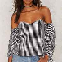 Sleeve of Absence Off-the-Shoulder Top