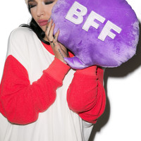 Throwboy BFF Chat Pillow Purple One