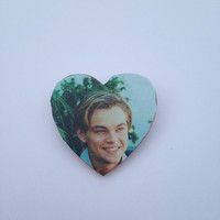 Leonardo Dicaprio Pin Button