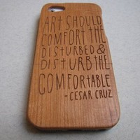 Iphone 5 case - wooden cases bamboo, cherry and walnut - Art should