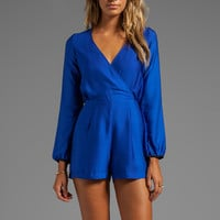DV by Dolce Vita Calissi Romper in Royal Blue from REVOLVEclothing.com