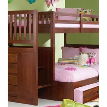 Layla Staircase Bunk Bed with Trundle