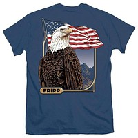 American Eagle with Flag Tee by Fripp Outdoors