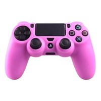 Goliton® Silicone rubber soft case Gel skin cover for Sony PlayStation 4 PS4 Controller -Pink