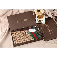 GUCCI men and women fashion accessories comfortable cashmere scarf silk shawl size:180*70