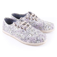 Floral toms womens printed canvass cordones by toms £50.00