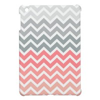Pink Fade Chevron Zigzag Pattern iPad Mini Case. from Zazzle.com