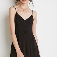 Buttoned-Front Romper