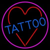Tattoo Heart Neon Sign Real Neon Light