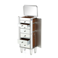 Powell Furniture Mirrored Jewelry Armoire