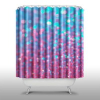 Pink Peri™ Pink and Blue Sparkle Shower Curtain Handmade Home & Living Bathroom,70-Inch by 70-Inch